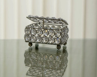 Rectangle Small Crystal Jewelry Box