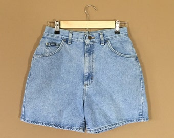 Waist 29 High Waisted Denim Shorts / 90s Jean Shorts / 90s Shorts / Levis High Waisted Denim Shorts / Levis Cutoffs / Denim Cutoffs / Cutoff
