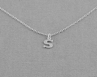 Personalized Initial Charm Necklace, Sterling Silver Necklace