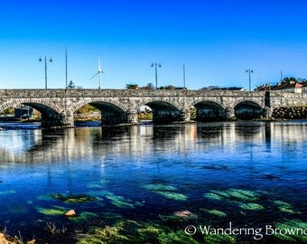 Ring of Kerry - Beaufort Bridge - River Laune - County Kerry - Ireland - river - bridge - reflection - lily-pads - nature