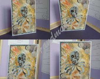 Steampunk Style Octopus Card
