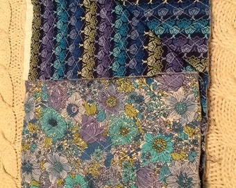 Double sided quilted fabric remnant 1/3yd