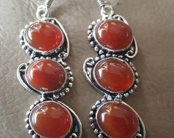 Carnelian Gemstone Earrings!