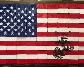 Military Waving American Flag