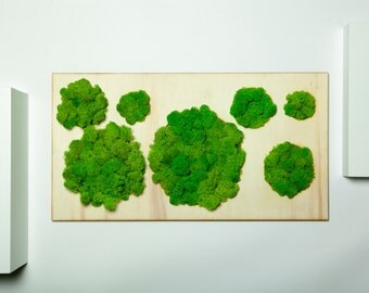 The Round Forest - Ever Green Moss, Laser Cut  60 cm * 30 cm