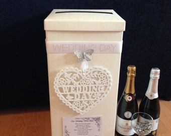 Wedding Card Post Box - Hanging Wooden Heart - (More Colours Available)