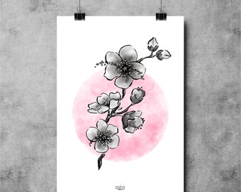 Poster CHERRY BLOSSOM 30X40