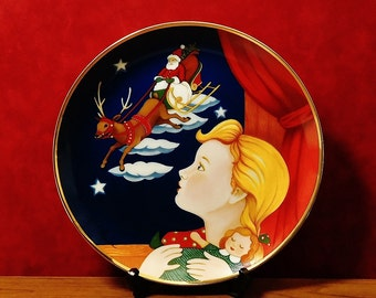 """American Lung Association, """"CHRISTMAS VISIT"""" by artist, Pamela Paparone, Replica of Christmas seal from 1943"""