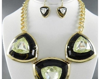 Double toned gold plated necklace.