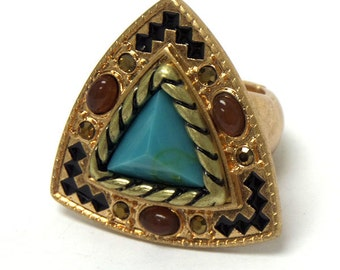 Tribal style stone ring