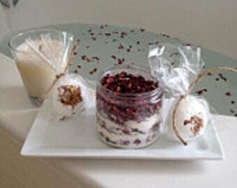 Cleopatra's Rose Milk Bath Set/Dead Sea Salt/Roses/Bath Bomb Set