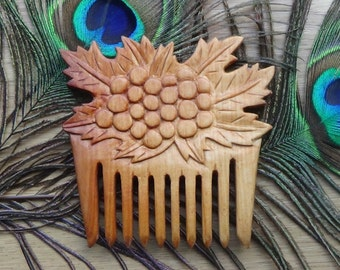 Wooden comb  Wood carving Women Magic Witchcraft Gift woman Natural Wood comb Unique gift Stylish gift for daughter for her