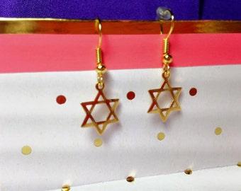 Star of David Dangle Earrings