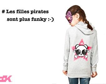 Cotton Hoodie bio girl Pirate