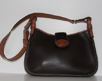 Vintage Dooney & Bourke Handbag; Brown/Tan Leather; Adjustable Shoulder Strap; Like New Condition;  Handbag; Purse; 313018