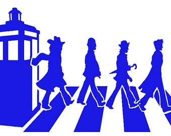 Abbey Road Doctors Inspired Cross Stitch Doctor Who Crossover