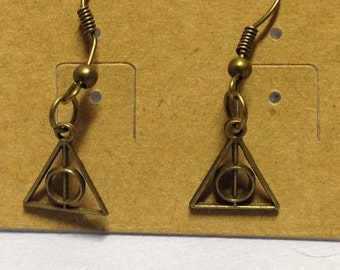 Harry Potter Inspired Deathly Hallows Earrings