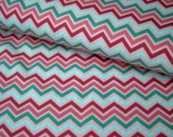 STENZO Cotton Jersey pink-mint Chevron zigzag