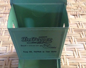 Rare 1930'S lime green drink Dr Pepper match box holder