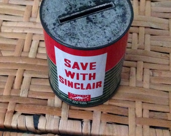 Sinclair extra duty oil can bank