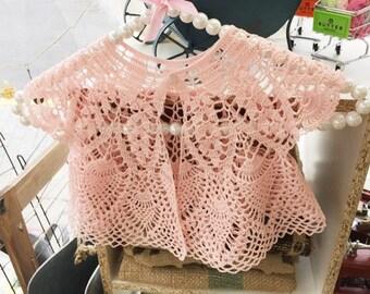 Girls lace Crochet Bolero Cardigan