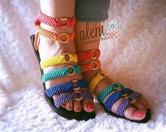 rainbow sandals sandalias arcoiris