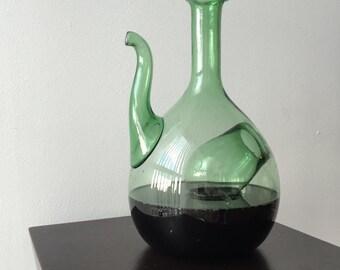 Vintage Green wine decanter