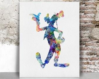 Disney print Goofy print poster wall art, nursery print, children decor, wall decor, FamouStars