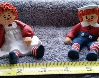 Adorable Raggedy Ann and Andy Figurines, Classic and Collectible