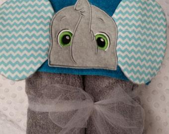 Baby hooded bath towel,baby showe gift,elephant hooded towel