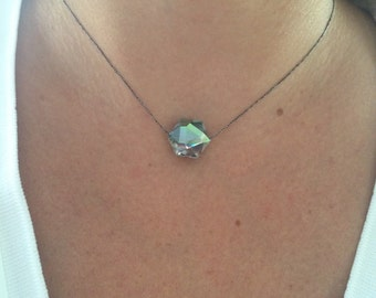 AB Geometric Crystal Choker Necklace
