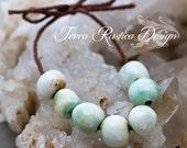 Minty green ceramic bead set-Ronnie's beads