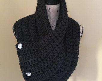 Black Ladies Neck Cowl, Super Soft