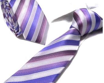 Grape Striped Neck Tie