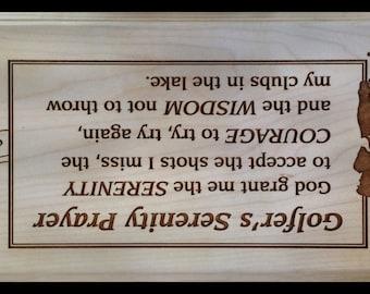 Golfer's Serenity Prayer Plaque
