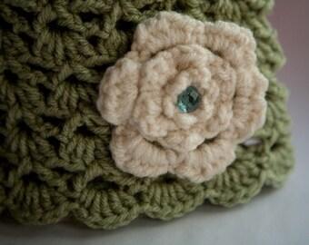 Baby Spirit Pull-On Hat, Handmade Crochet Fashion Hat, 6-9mos, Photogrpahy Prop,