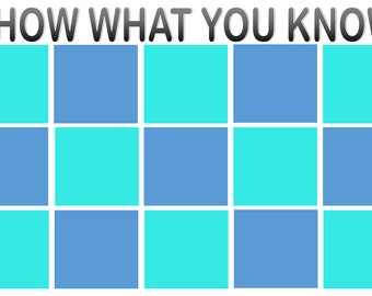 Show What You Know Mini Chart