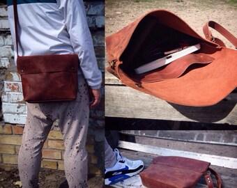 Leather bag men, Handmade leather handbag, Leather Satchel, leather messenger bag, leather handbag, vintage leather shoulder bag