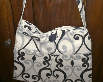 Black and Grey Print Purse