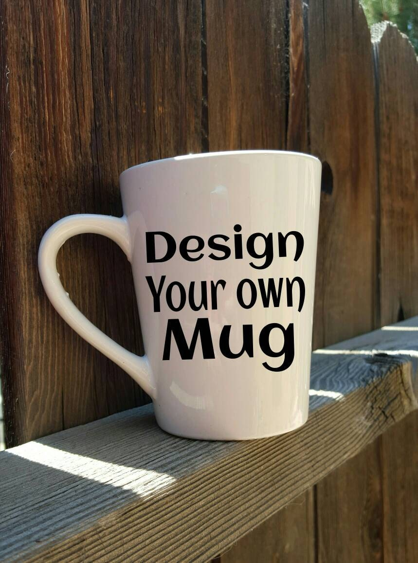 Custom mug design your own mug glitter mug best friend for Handmade mug designs