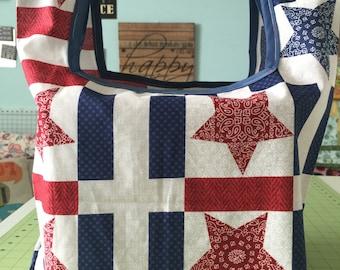 Patriotic Reusable Grocery Bag