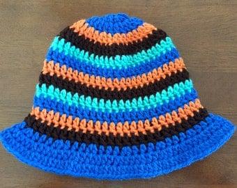 Crochet sun hat, toddler boy sun hat, sun hat, newborn sun hat, child sun hat