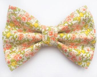BIG Ditsy Floral Bow, baby headband, baby hair clip, hair bows, hair clips, headbands, baby girl, girl toddler, baby gift