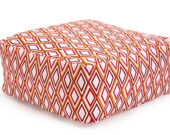 Silk Screened Box Floor Cushion - Mason
