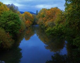 Fall on Calapooya Creek in NW Oregon