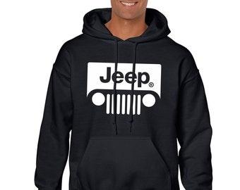 Jeep Hoodie Hooded Sweatshirt Pullover Hood Black Off Road Sweater