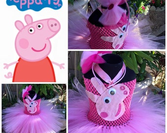 peppa pig tutu,peppa pig tutu dress short