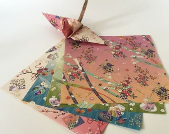 Origami Paper Sheets - Japanese Pattern - 24 Sheets