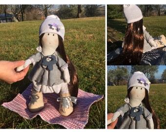 Handmade cloth doll. Handmade Doll.
