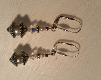 Earrings, 925 Silver clips